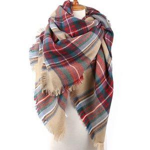 Accessories - NEW Tartan Plaid Blanket Oversized Scarf